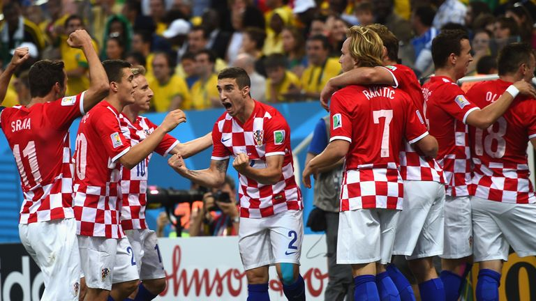 Croatia celebrate their shock lead