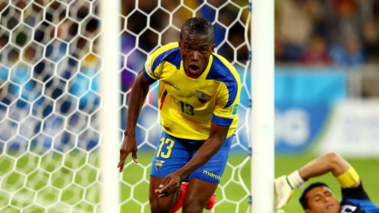 Valencia: Scored twice for Ecuador