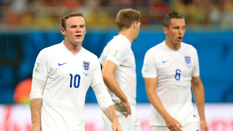 Wayne Rooney: Struggled in his role on the left of England's attacking three