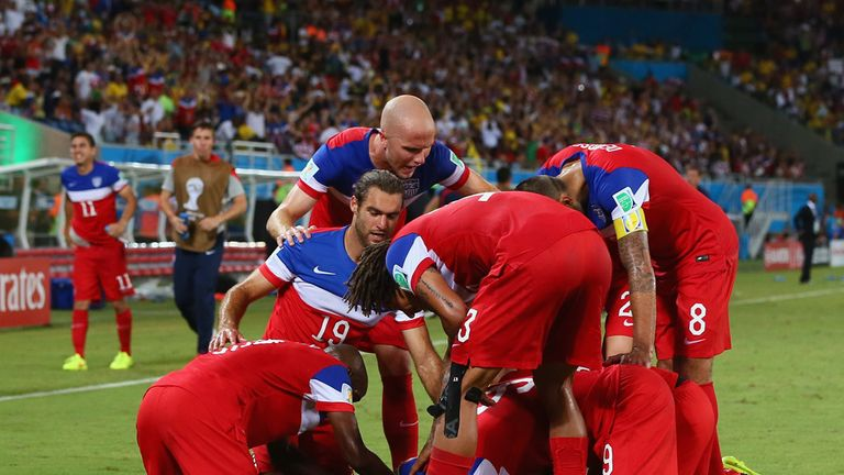 USA: Joy after John Brooks' winner