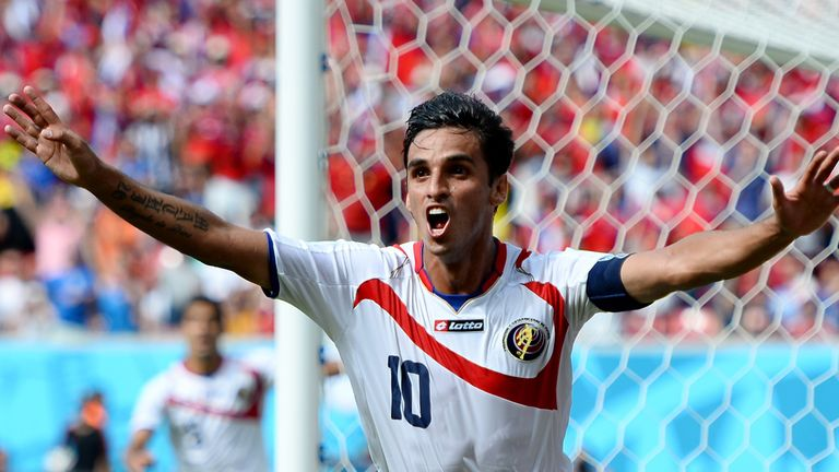 Bryan Ruiz has over 100 caps for Costa Rica