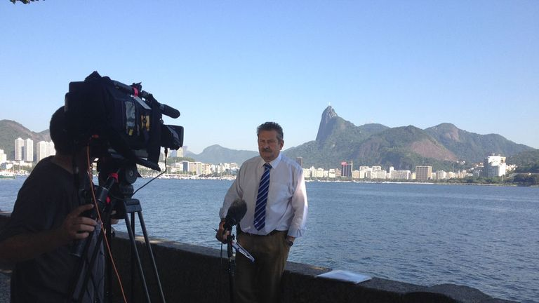 Nick Collins: Part of the SSN team in Brazil