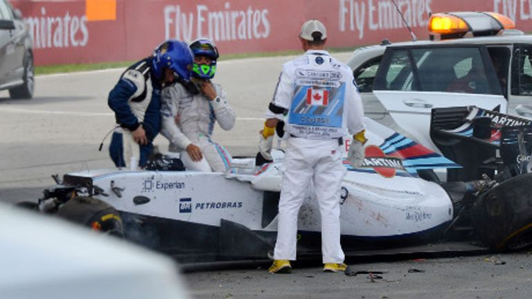 Felipe Massa: Crashed on final lap of Canadian GP