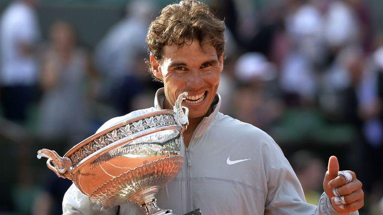 My trophy: Nadal celebrates