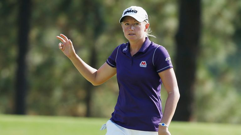 Stacy Lewis: Holds a one shot lead at the US Women's Open