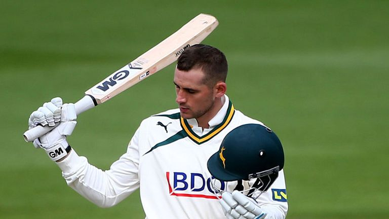Alex Hales made 96 as Nottinghamshire hit back against Middlesex