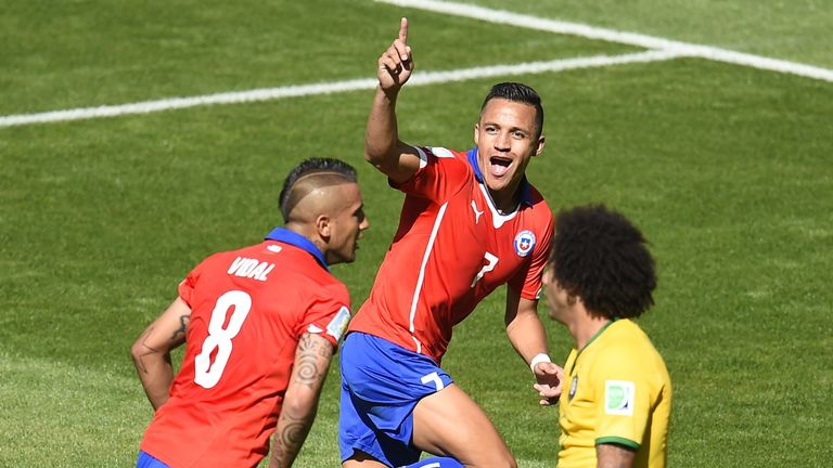 Sanchez wheels away after equalising