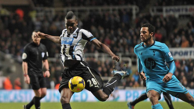 Sammy Ameobi in action for Newcastle against Spurs