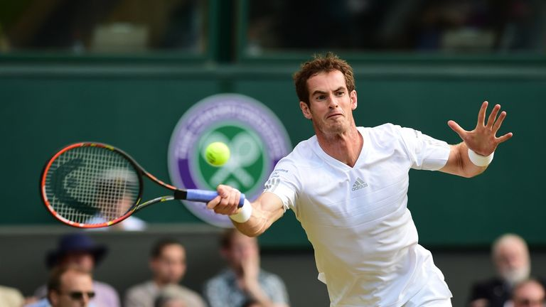 Andy Murray: yet to drop a set at Wimbledon this year