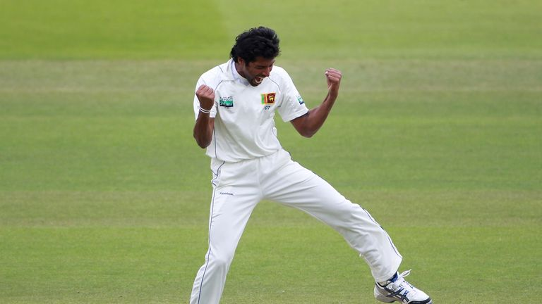 Chanaka Welegedara: only seamer in Sri Lanka's squad with a Test wicket in England