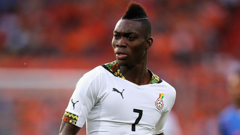 Christian Atsu: In World Cup action for Ghana