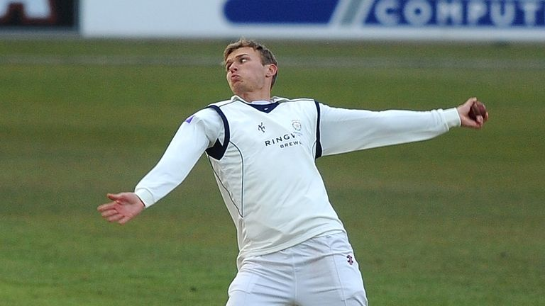Danny Briggs: Hampshire spinner struck four times against Derbyshire on day two