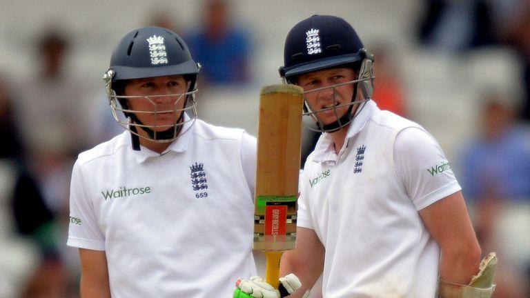 England's batsmen Gary Ballance and Sam Robson