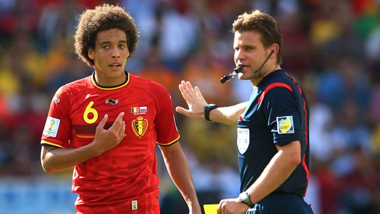 Axel Witsel: Shown a yellow card by referee Felix Brych