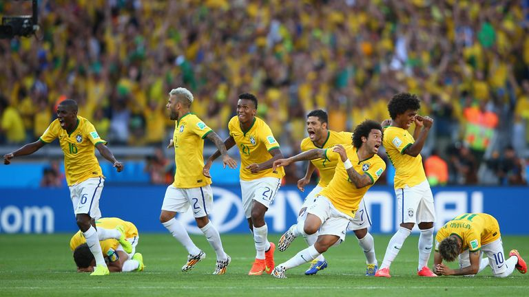 Brazil celebrate at full-time
