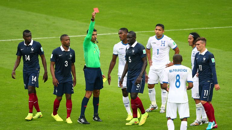 Wilson Palacios: Shown a red card before half-time