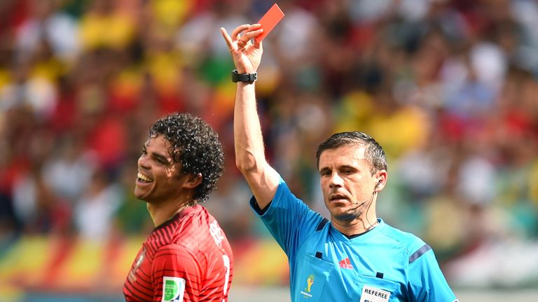 Pepe was given his marching orders after a confrontation with Thomas Müller