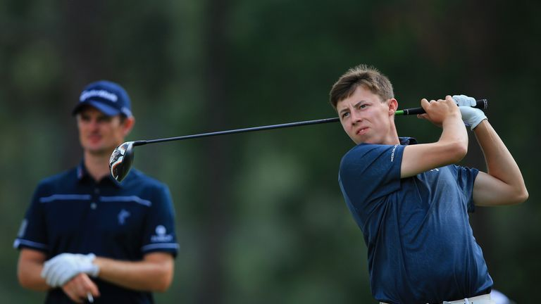 Matt Fitzpatrick (right) - outscored defending champ Justin Rose by a shot.