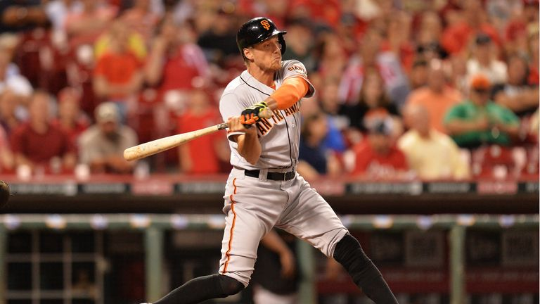 Hunter Pence: Came home for the winning run for the San Francisco Giants