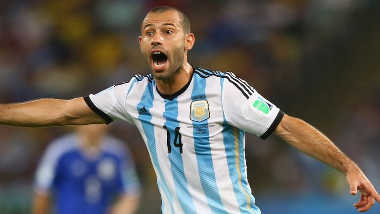 Javier Mascherano is in danger of not making the World Cup with Argentina