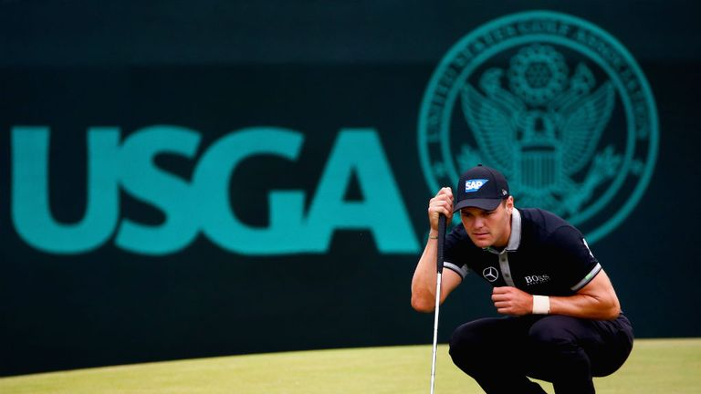 Germany's Martin Kaymer opened a big lead on day two as he goes in search of a second major title