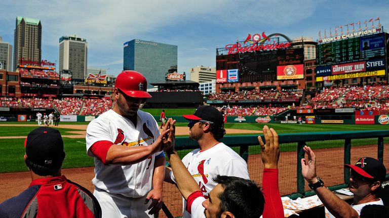 Matt Holliday: Scored his 1,000th career RBI