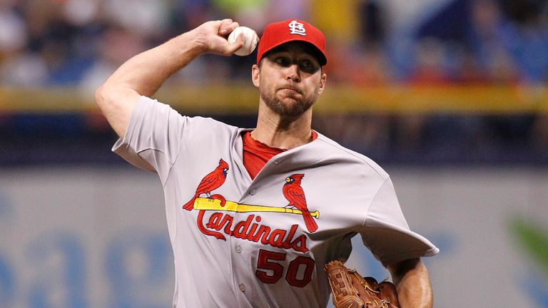 Adam Wainwright: St Louis pitcher tossed seven shut-out innings
