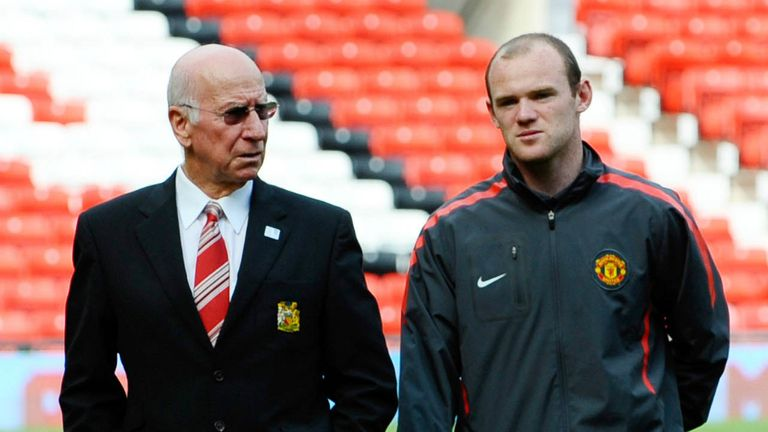 Sir Bobby Charlton: Wants Wayne Rooney to eclipse his England scoring record