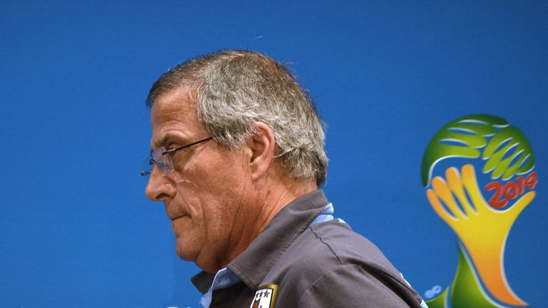 Oscar Tabarez: Blasted FIFA during a press conference at the Maracana on Friday.