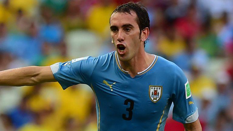 Uruguay's defender Diego Godin