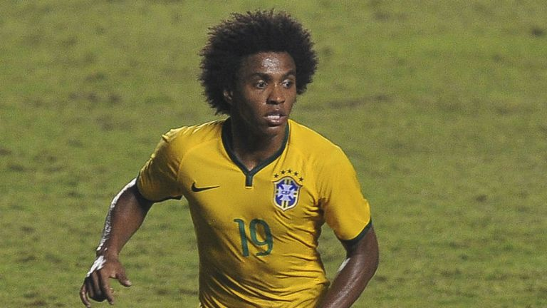 Willian: Hoping to help Brazil to a sixth World Cup triumph