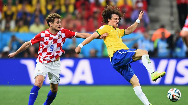 David Luiz and Nikica Jelavic