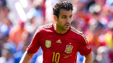Cesc Fabregas completed his move to Chelsea just before the start of Spain