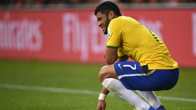 Hulk: Brazil striker suffered a thigh injury in training