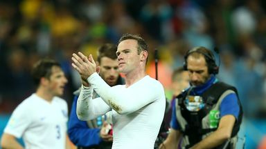 Wayne Rooney: Acknowledges fans in Sao Paulo