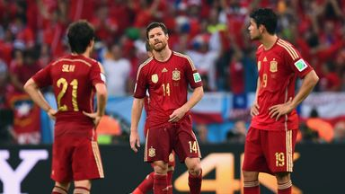 Xabi Alonso: Painful exit for Spain
