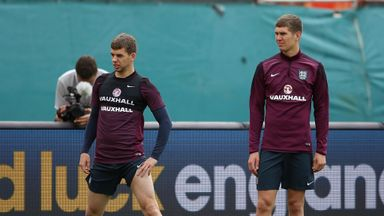 Jon Flanagan (l): On standby for England alongside John Stones