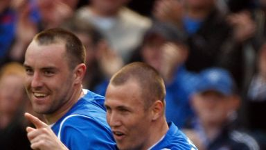 Kris Boyd (l) and Kenny Miller: Rangers