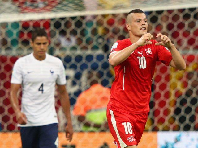 Switzerland scored twice late on against France