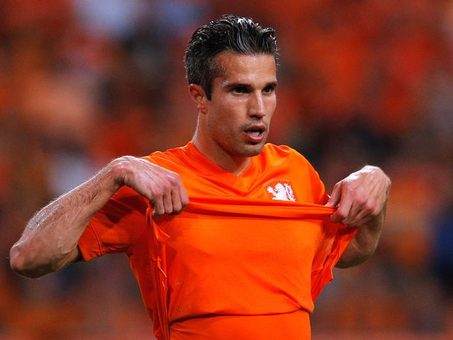Robin van Persie: Didn't last long in the win over Wales