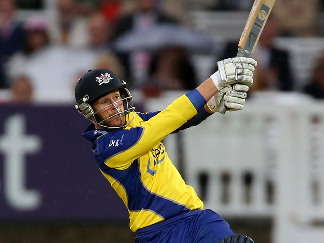 Adam Rouse: Big-hitting won the game for Gloucestershire