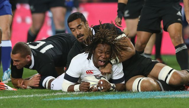 Marland Yarde: Dived over during a wonderful start for the tourists