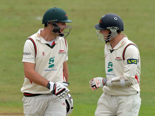 Angus Robson (right) made a century against India