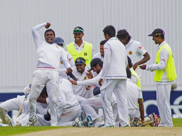 Sri Lanka celebrate a sensational victory at Headingley