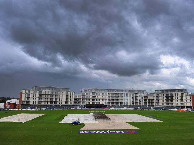 Rain forced the abandonment of the game between Gloucestershire and Glamorgan