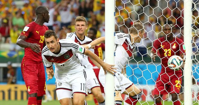 Miroslav Klose: Delighted to equal Ronaldo's record of World Cup goals