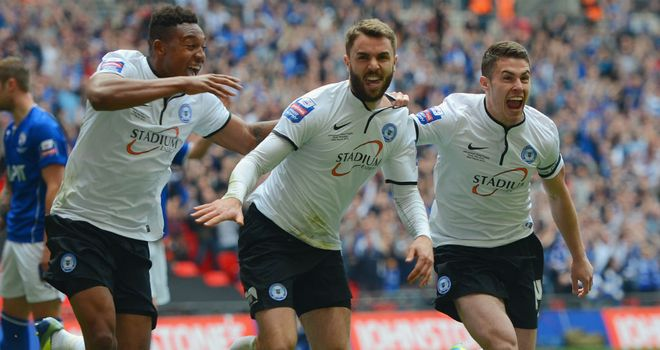 Josh McQuoid: Netted in the Johnstone's Paint Trophy final for Peterborough