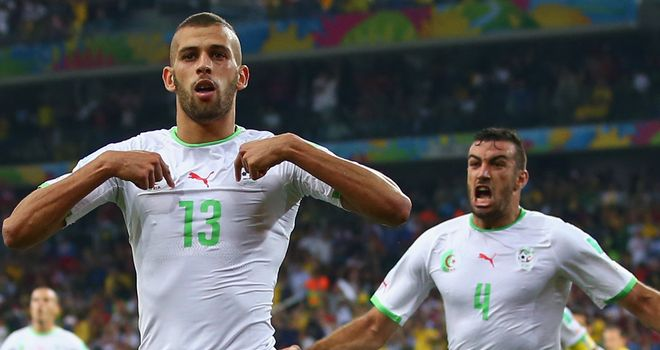 Islam Slimani: Grabbed a priceless goal for Algeria