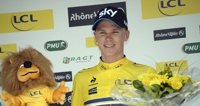 Chris Froome: Sent a message to his rivals as he claimed yellow in Lyon