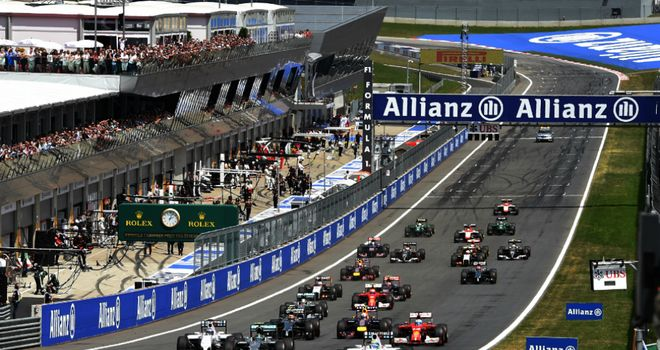 Excitement: The start of the Austrian GP